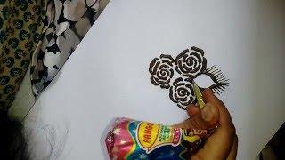 how to do easy beautiful roses mehndi design for hands:Matroj Mehndi Designs