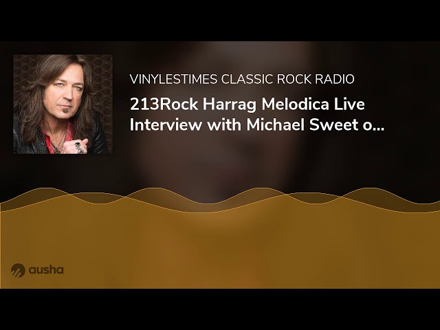 213Rock Harrag Melodica Live Interview with Michael Sweet of Stryper New album « Even The Devil B...