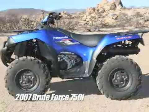 ATV Television Test - 2008 Kawasaki Brute Force 750 - YouTube