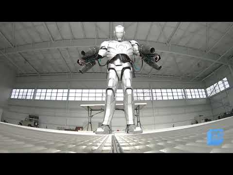 Una réplica del traje de Iron Man que vuela y es a prueba de balas