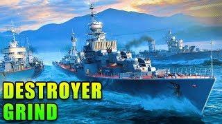 IJN Destroyer Grind - World of Warships