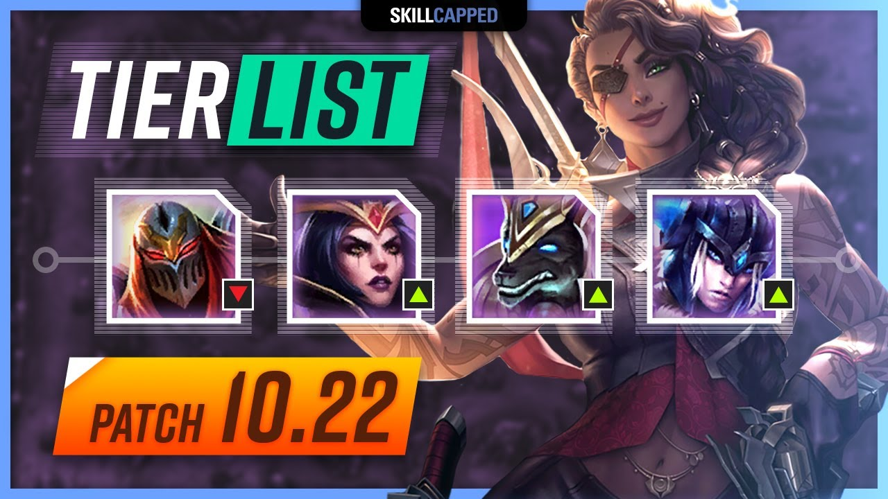 New Patch 10 22 Champion Tier List For League Of Legends Skill Capped Youtube