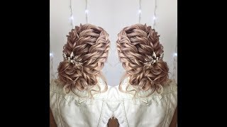 Свадебная причёска. Причёска на выпускной. Быстрая причёска. Юлия Красота. Hair. Обучение причёскам