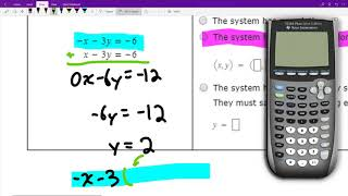 Solving a 2x2 system of linear equations that is inconsistent or consistent dependent