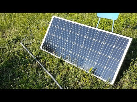 Solar panel 150W + EPEVER Tracer 2210A + SEAFLO 2000 GPH  first test