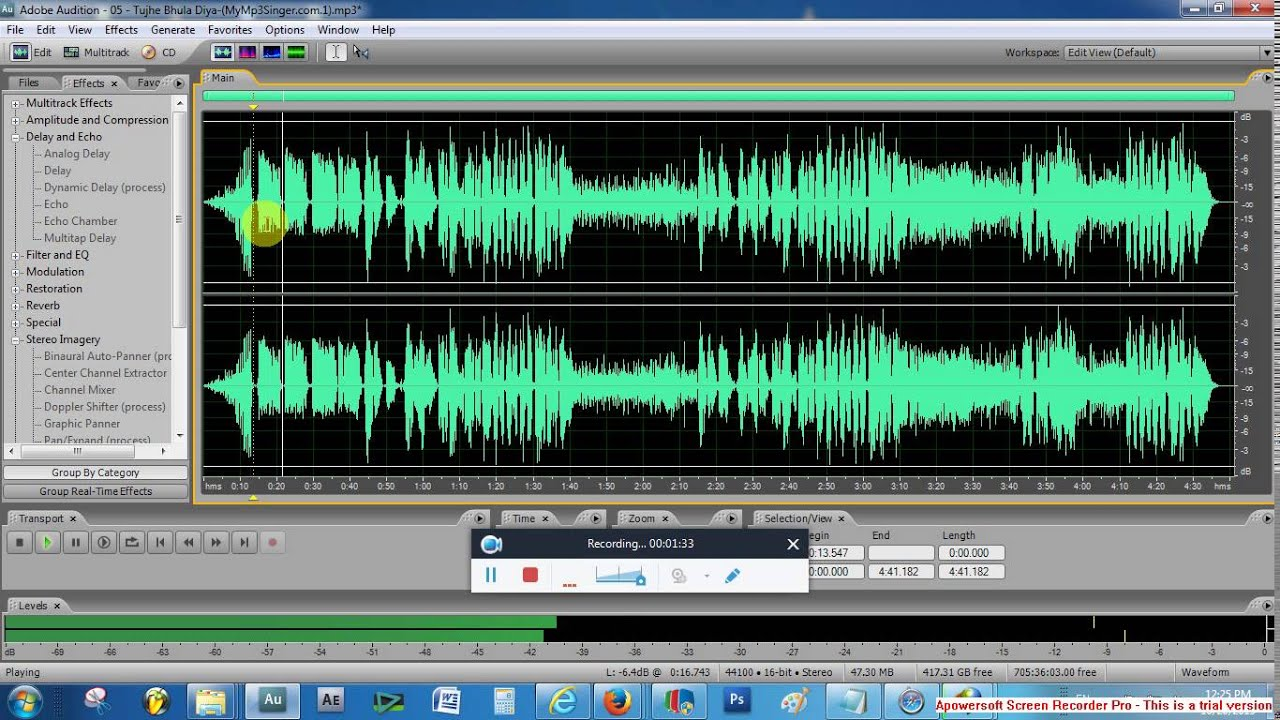 MAKING OF ACAPELLA USING ADOBE AUDITION