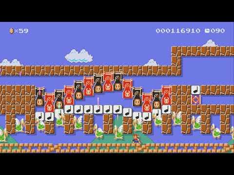ピタゴラ付きのマリオカートダッシュ全自動 Keep Run by たか - SUPER MARIO MAKER - NO COMMENTARY