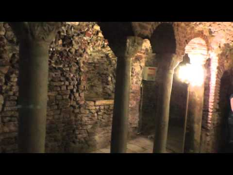 INSIDE the crypt of Abo Serga church, coptic Cairo - داخل سرداب الكنيسة أبو سرجه في القاهرة القبطيه