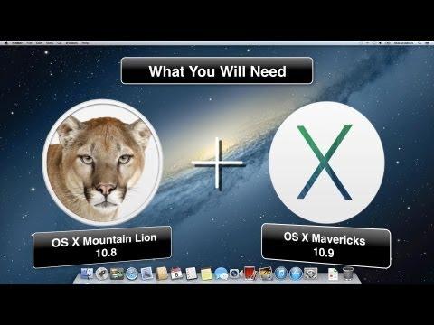 How To Dual Boot Mac OS X Mountain Lion 10.8 and OS X Mavericks 10.9