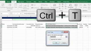 Excel Magic Trick 1249: Build Database with Excel 2016 Table feature & VLOOKUP to Get Invoice Detail