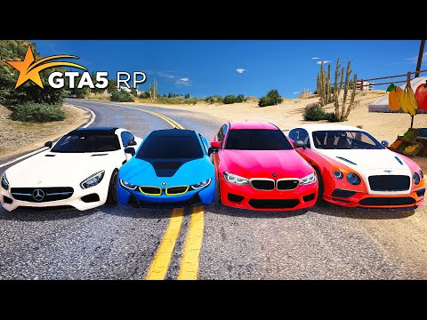 САМАЯ ДОРОГАЯ ГОНКА! BMW против MERCEDES против BENTLEY! GTA 5 RP Strawberry!