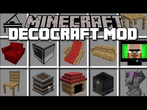Minecraft HOUSE DECOCRAFT MOD / ADD FURNITURE TO YOUR HOUSE!! Minecraft