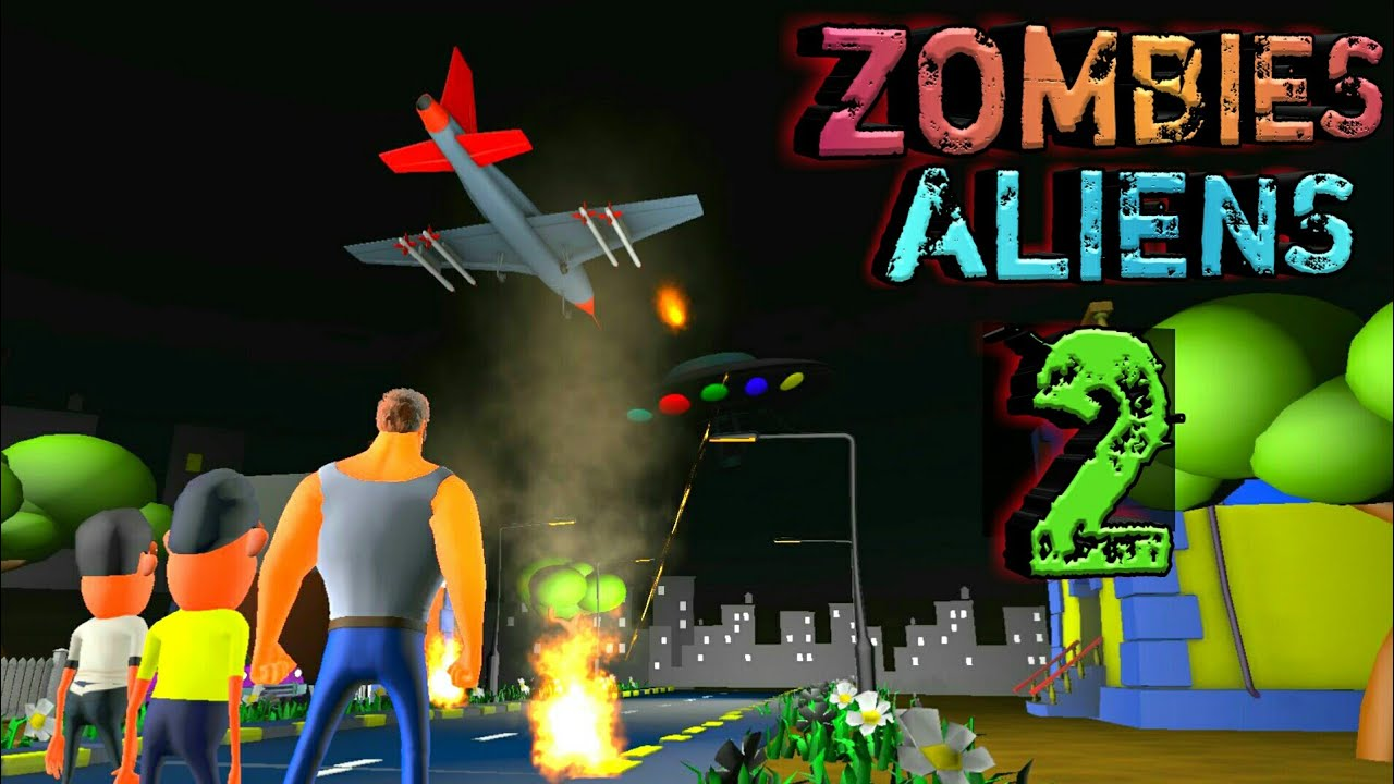Zombies and Aliens Horror Story Part 2   Animated movies   som tv   UFO scary story