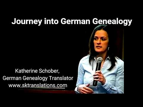 Journey into German Genealogy with German Genealogy Translator Katherine Schober, SK Translations