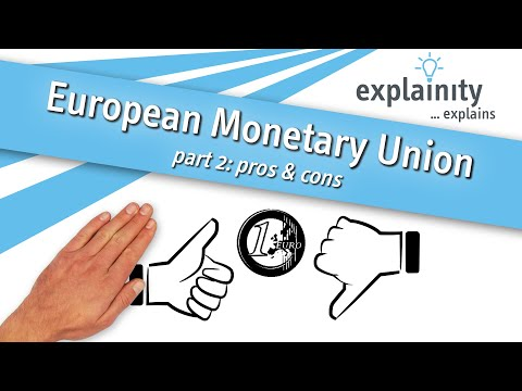 European Monetary Union Explained - Part 2: Pros & Cons  (explainity® Explainer Video)