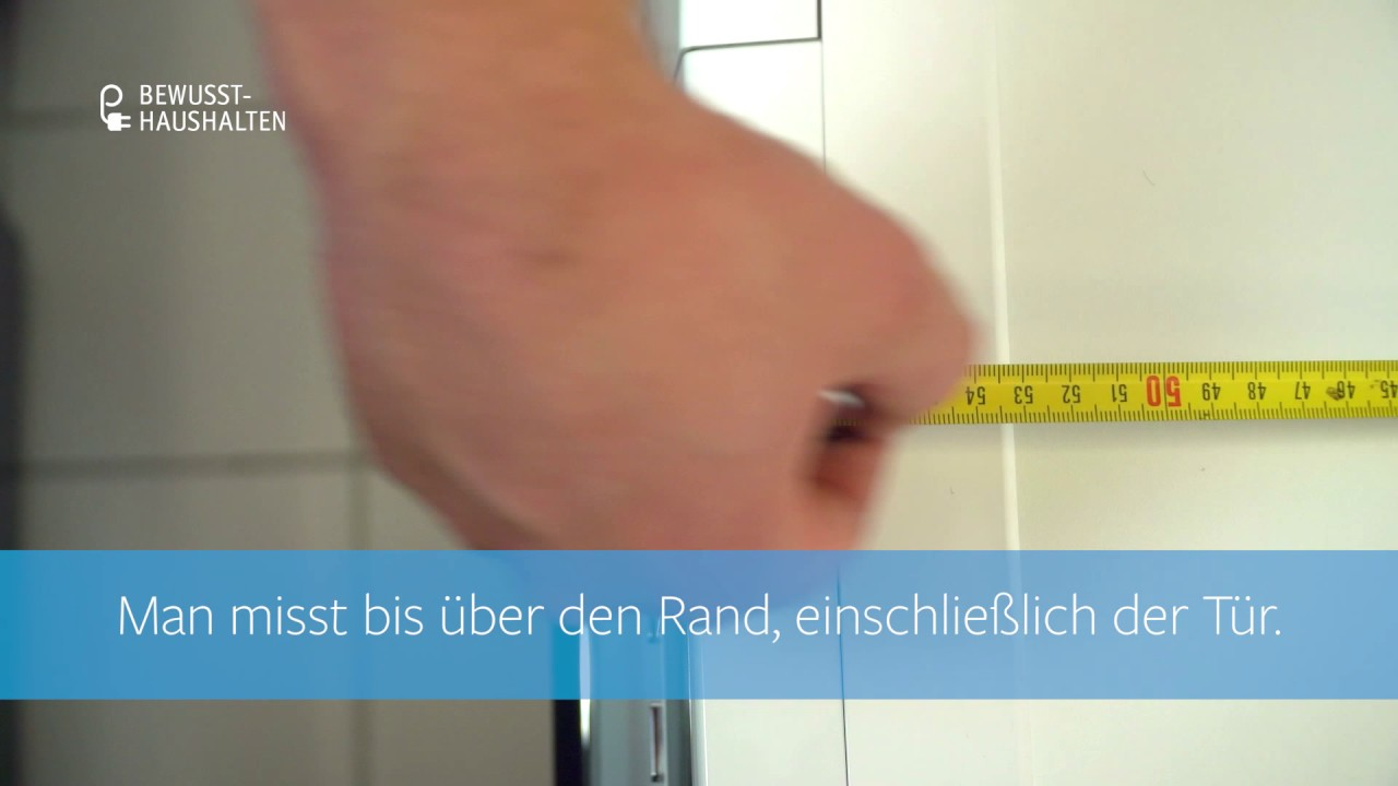 Beliebt Wie messe ich korrekt die Maße einer Waschmaschine? - YouTube WE06