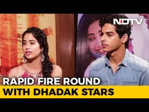 Rapid Fire Round With Janhvi Kapoor & Ishaan Khatter