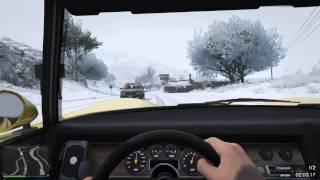 GTA 5 ШОССЕ 68 ЗИМОЙ со СНЕГОМ