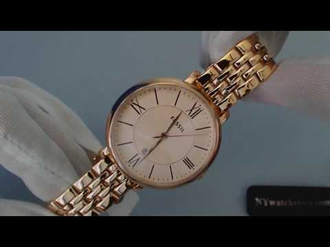 Women's Rose Gold Fossil Jacqueline Watch ES3435