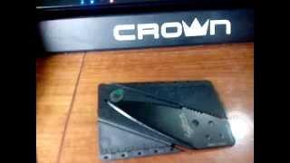 Нож  кредитная карта. Короткий обзор