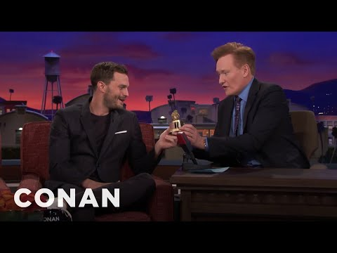 Conan Presents Jamie Dornan His Razzie Award  - CONAN on TBS