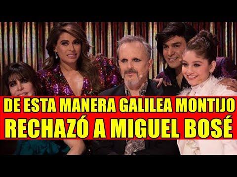 DE ESTA MANERA GALILEA MONTIJO RECHAZÓ A MIGUEL BOSÉ