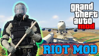 "GTA 5 Mods - ""RIOT MOD"" POLICE & RIOT MOD GAMEPLAY! (GTA 5 PC Mods)"