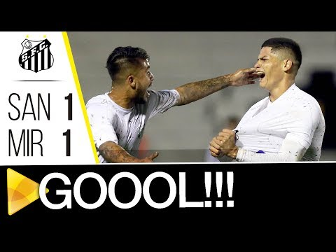Santos 1 (5) x (4) 1 Mirassol | GOL | Copa SP (11/01/18)