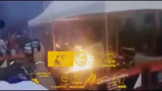 il explose sa moto sur un banc aie aie aie