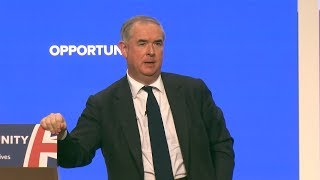Geoffrey Cox's rousing Conservative Party Conference speech