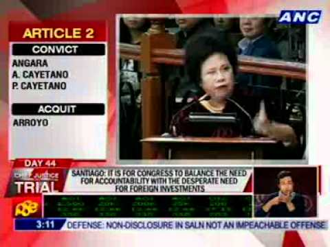 Santiago: Would you be surprised if I vote not guilty?  (ACQUIT)