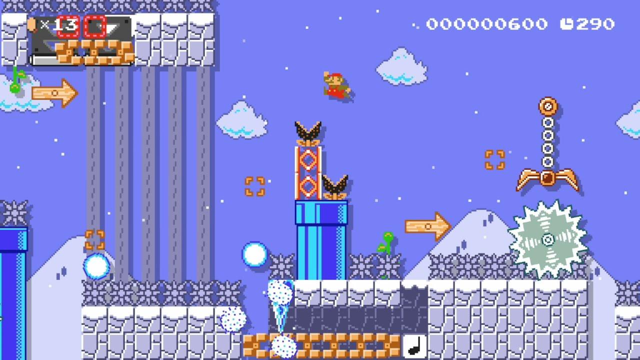 [マリオメーカー2]Kaizo:Snowball Island