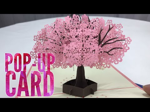 3D Pop Up Pink Tree Greeting Card By YHMALL Review