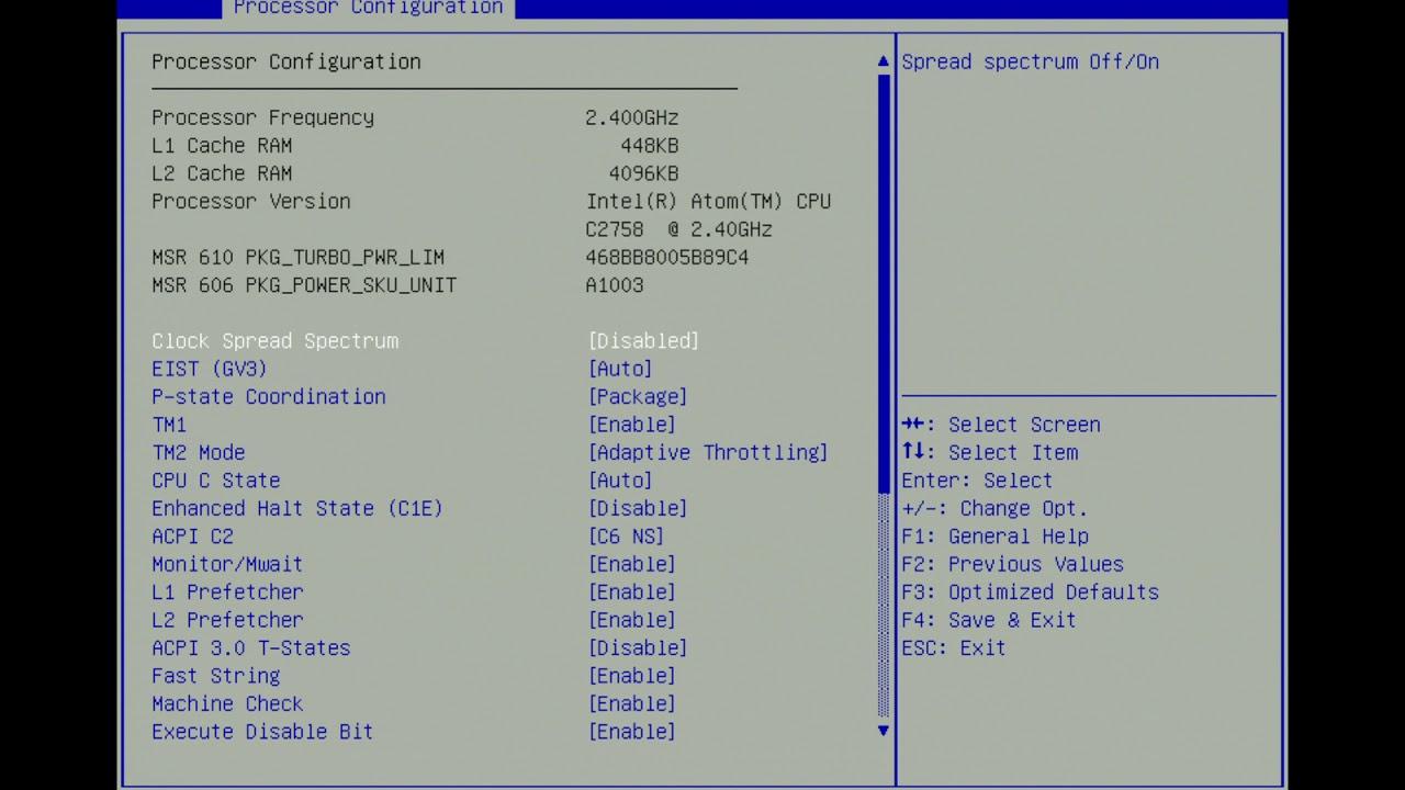SMC A1SRi-2758F BIOS 2 1 Atom C2758