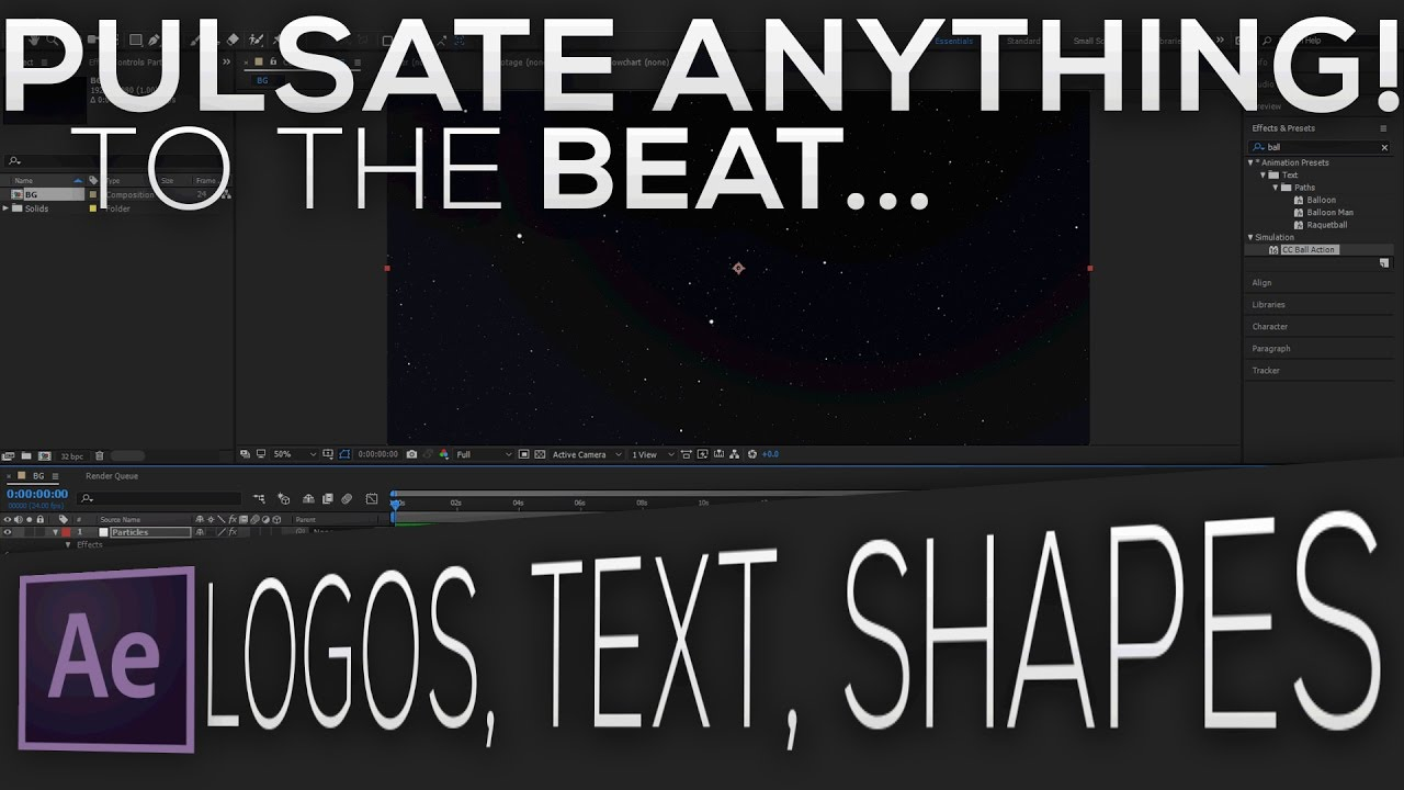 Pulsate any Object/Text to Music in Afrer Effects (AE)