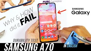 Galaxy A70 Durability Test - Why A-Series phones are Soft  |PUBG Gameplay|