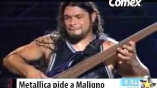 Maligno le abrira a Metallica - Multimedios TV