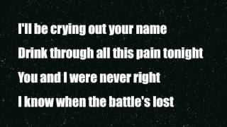 Crying out your name - Loreen - Lyrics on screen