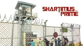 The Walking Dead Prison Tower Prison Gate And Fence Mcfarlane Toys Walmart Exclusive Building Set Re