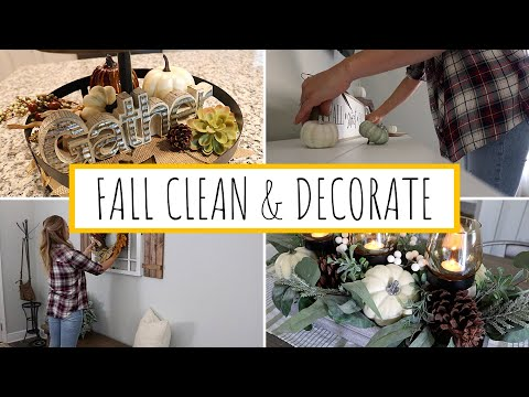 *NEW* DECORATE WITH ME FOR FALL 2019 | CLEANING MOTIVATION | FALL DECOR | Jessica Elle