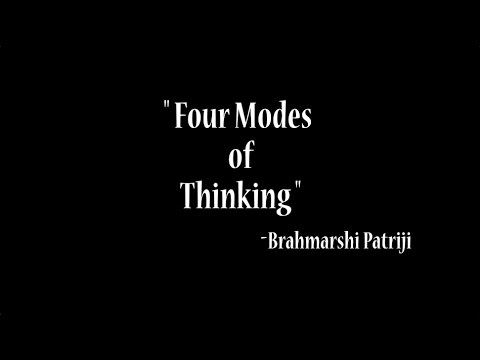 Four Types of Thinking Patterns existing in Human Beings || POWER OF THOUGHT
