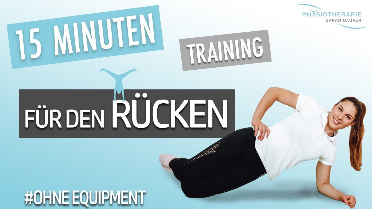 15 Minuten Rückentraining - Auch für Anfänger geeignet - Physio Sarah Daurer