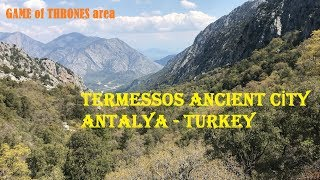 TERMESSOS ANCIENT CİTY and ROAD ( real GAME OF THRONES area ) Antalya TURKEY 1080p HD 2019