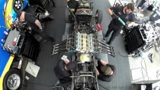 10 000hp Pennzoil Funny car tear down rebuild time lapse