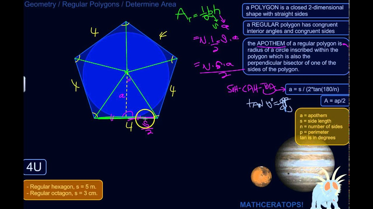 How To Calculate The Area Of Any Regular Polygon No Matter How Many Sides  It Has
