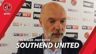 Uwe Rosler after Southend United | Post Match