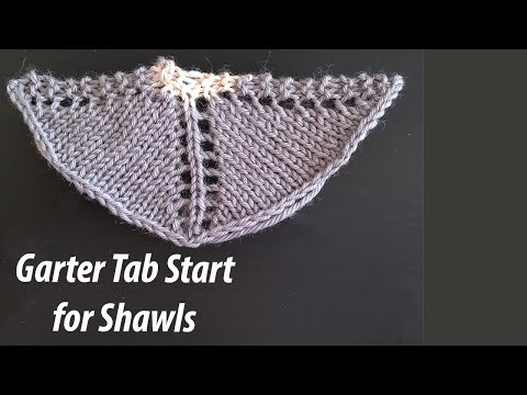 Shawl Knitting -  Garter Tab Start