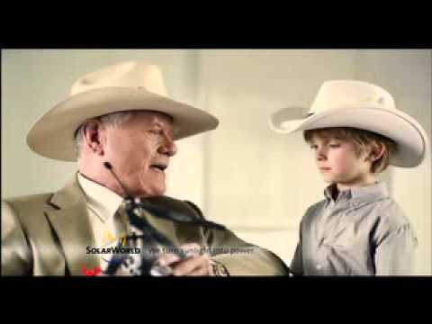 """Solarworld television advert """"Made in Germany"""" (starring Larry Hagman)"""