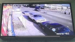 Guy gets run over by a car