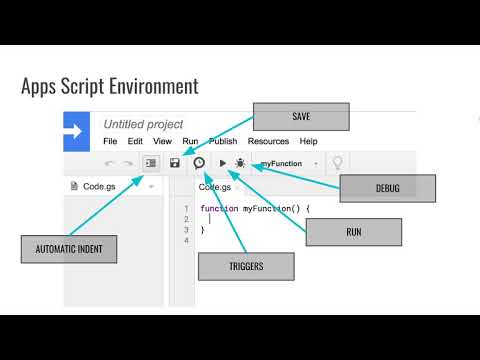 Script Editor: Introduction to Programming with Google Sheets 07-A